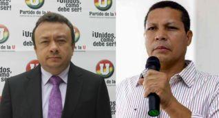 (Izq) Senador Eduardo Pulgar (Der) Jorge Noguera funcionario de la Procuraduría.