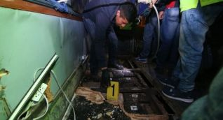 Caleta en el bus accidentado en Ecuador.