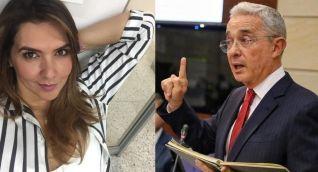 Mónica Rodríguez y Álvaro Uribe.