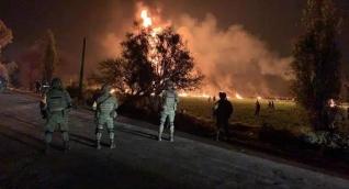 Panorámica de la emergencia donde se presentó la explosión del ducto de gasolina.