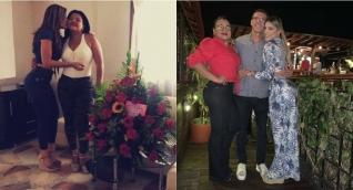 Lairen Bernier en compañía de su madre, Martha García y su padre Leandro Bernier.