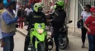 Estos son los patrulleros de la Policía involucrados en el accidente.