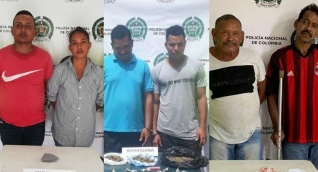 Las personas fueron dejadas a disposición de la Fiscalía General de la Nación, para que se les defina su situación judicial por el delito de tráfico, fabricación o porte de estupefacientes.