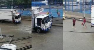 Atraco bajo aguacero en Barranquilla