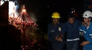 Seis personas resultaron con afectaciones por el incendio.