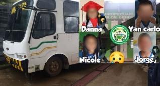 Niños fallecidos en el incidente.