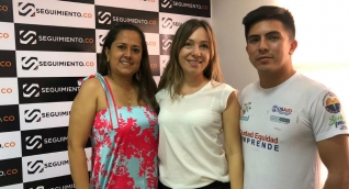 Diana Sierra, Martha Cala y Omar Contreras.