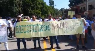Protesta de los empleados del Parque Tayrona
