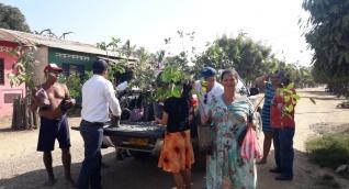 Entrega de árboles frutales en el Magdalena