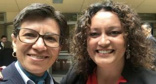 Claudia López y Angélica Lozano.