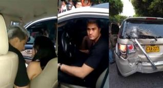 Fotos de Juan Mindiola y Ana del Castillo en el momento del accidente