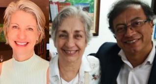 Claudia Gurisatti, Tulia Barreto y Gustavo Petro.