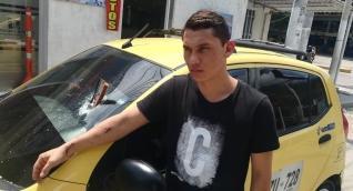 Taxista agredido por limpiavidrios en Santa Marta