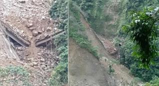 Alud derribó puente en construcción en la Vía Bogotá-Villavicencio.