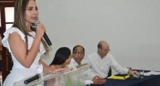 La secretaria de Salud Distrital, Linda Cabarcas.