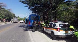 La Policía y el Ejército hacen presencia en las vías del Magdalena.