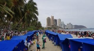 La Cooperativa de Carperos de El Rodadero y Playa Blanca donó la nuevas carpas.