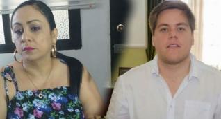 Los diputados Claudia Aaron (izq) y Luis Vives discutieron este martes en la sesión de la Asamblea.