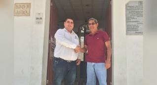 El abogado Luis Toribio Ceballos junto a Víctor Bermúdez, ciudadano que ganó histórico fallo en Santa Marta