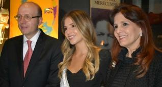 El Alcalde de Santa Marta, Andrés Rugeles; la Reina Anfitriona de la Fiesta del Mar, Patricia Hurtado Dávila y la Gobernadora del Magdalena, Rosa Cotes de Zúñiga