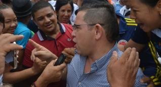 Rafael Martínez, a su llegada a la Alcaldía de Santa Marta.