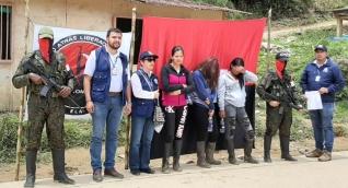 Las tres mujeres indígenas liberadas.