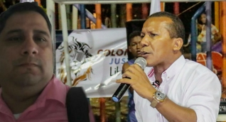 Jaime Cárdenas (der) discutió con Omar Segura, miembro activo de Fuerza Ciudadana.