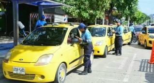Pico y placa para taxis en Santa Marta