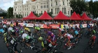 Pelotón de ciclistas durante la Vuelta a España.