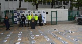 El decomiso de la droga se llevó a cabo en un hotel de la capital del Magdalena.
