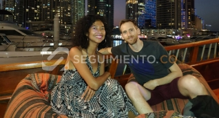 Ellos son Carolina Villamizar y Fred Guillemet, los turistas que se intoxicaron en el Centro Histórico de Santa Marta.