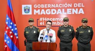 El gobernador se reunió este lunes con los altos mandos militares del departamento.