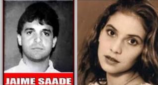 Jaime Saade y la joven Nancy Mestre.