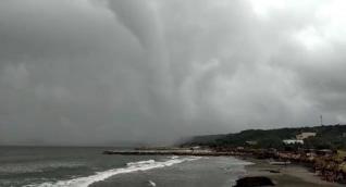 Tromba marina en Puerto Colombia.