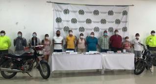 11 presuntos integrantes de la estructura criminal conocida como Marsella.