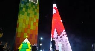 El Árbol de Navidad de Barranquilla, donado por Tecnoglass, es el más grande de Colombia.