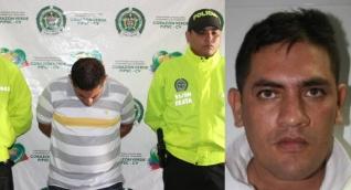 Heriberto Lizarazo Corredor cuando fue capturado por el asalto al Banco Agrario de Candelaria.