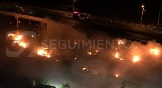 Zona donde se dio la explosión del vehículo.