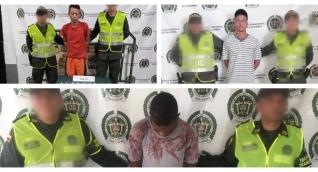 La Policía Magdalena en la lucha contra el tráfico local de estupefacientes capturó a tres hombres.
