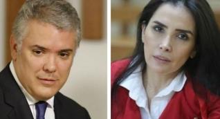 Iván Duque y Aida Merlano.