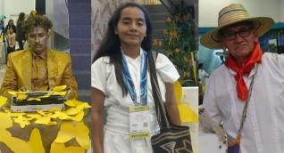 John Vázquez, Lucelis Torres y Efraín Corredor.