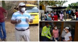 Residentes de la parte baja de Luis R Calvo se quejan porque los mercados no llegaron a todos los que lo necesitan.