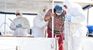 Imagen de contexto sobre un simulacro de coronavirus en Santa Marta.