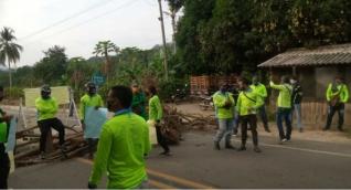 Protesta de mototaxistas en zona rural del Distrito.