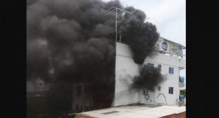 Incendio en edificio de Kevin Flórez