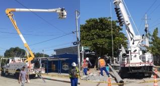 Esta importante obra de mejoramiento consiste en la ejecución de un nuevo circuito que permitirá una redistribución de cargas entre los circuitos Ciénaga Norte y Ciénaga Centro.
