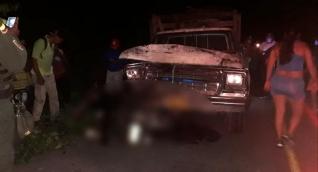 Lugar del accidente en la vía a Sibarco, Baranoa.