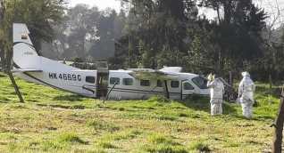 Avioneta accidentada.