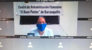 Dalila Duarte fue la única de los acusados que se conectó a la audiencia desde la Cárcel El Buen Pastor.
