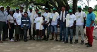 Parte de la comunidad del palenque Rincón Guapo Loveran.